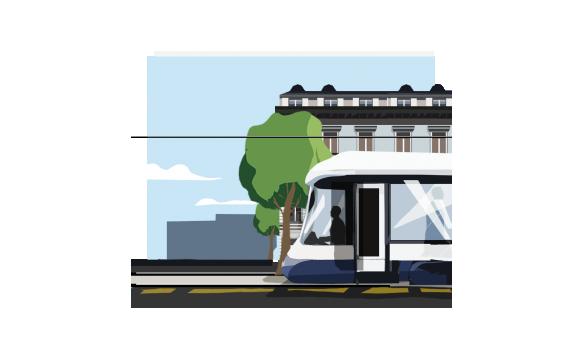 Illustration exclusive Transport publics genevois Genève - Moser Vernet et Cie SA